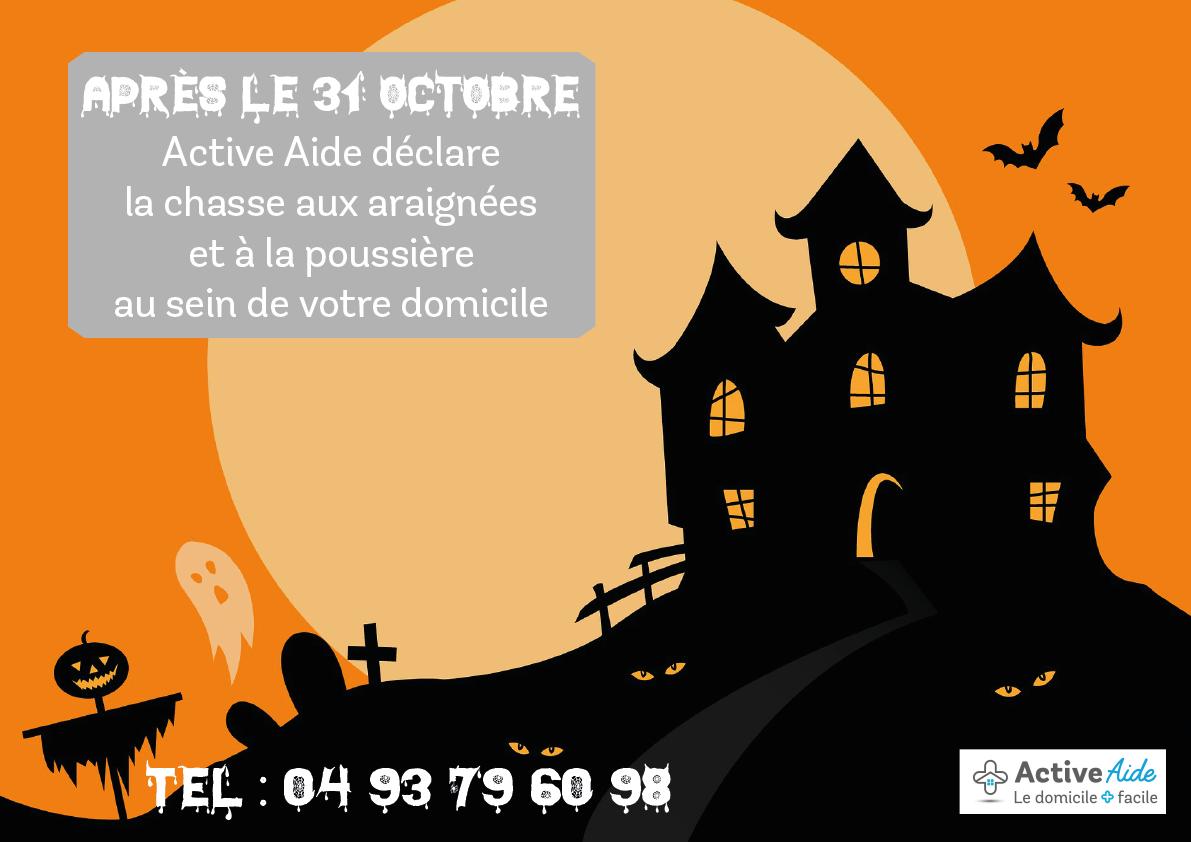 Active Aide se charge du ménage à votre place après Halloween