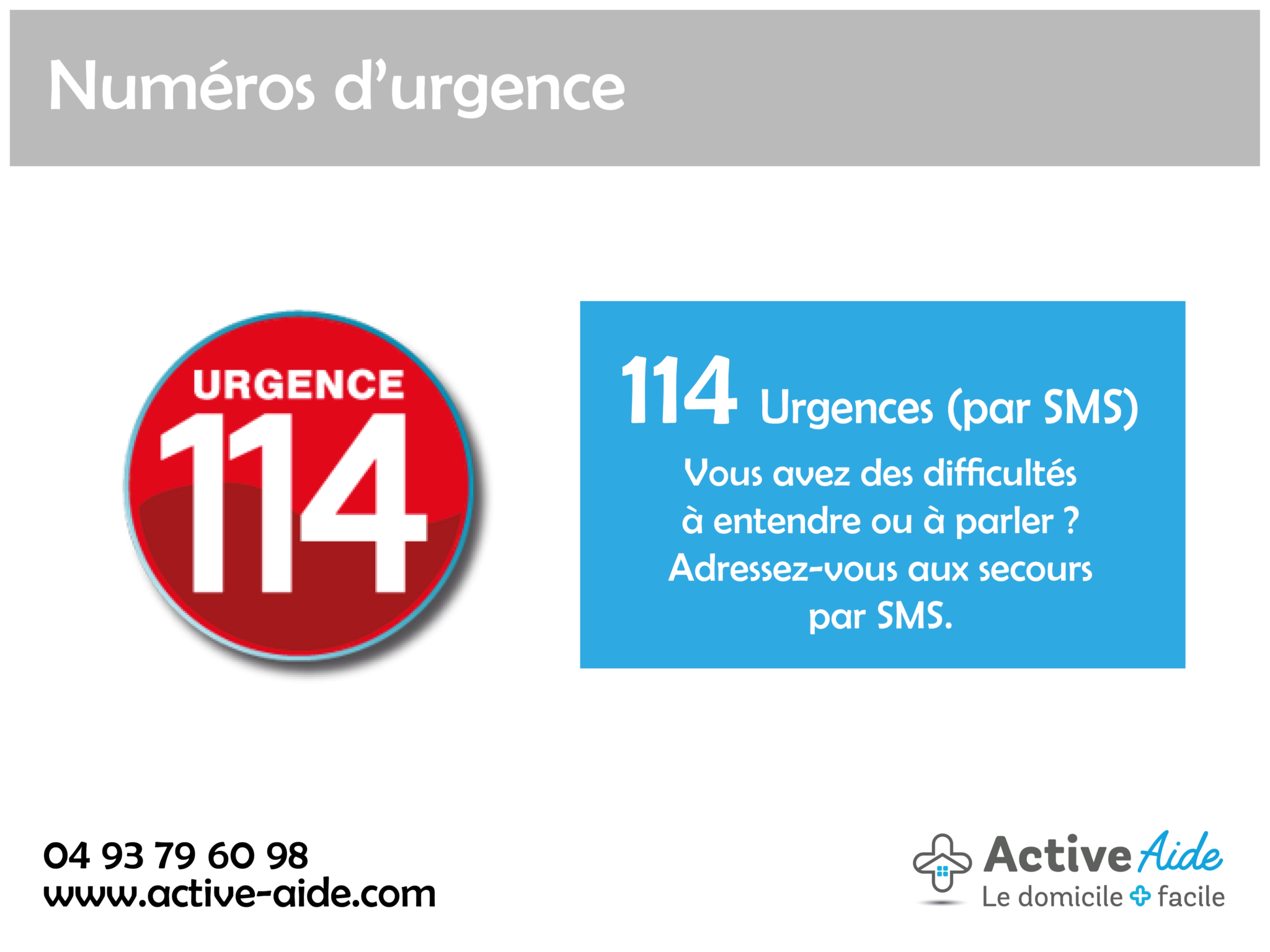 Connaissez-vous les numéros d'urgence ?