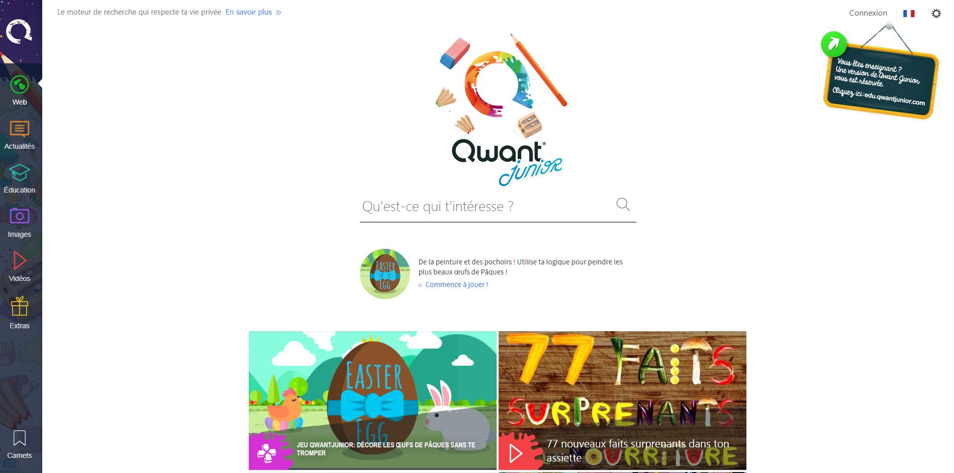 Qwant Junior, le moteur de recherche dédié aux 6-13 ans